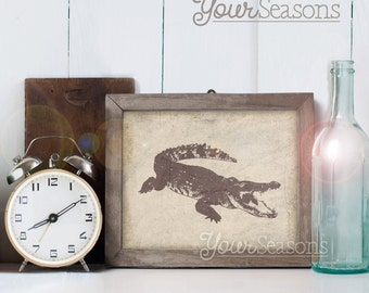 Alligator Print - Rustic Wall Decor - 8x10 printable digital file - INSTANT DOWNLOAD!