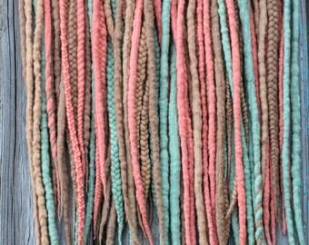 CUSTOM SET Of Wool Dreads and Braids, Woolen Dreadlocks