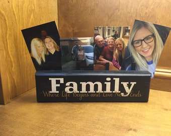 Family Picture Frame, Decorative Picture Holder, Picture Holder, Family Picture Holder, Photo Display