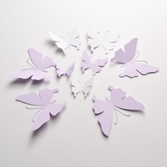 35 Butterfly Wall Decal 3D Decor Party Decoration Paper Butterflies Stickers From ArtPaperWonders On Etsy Studio