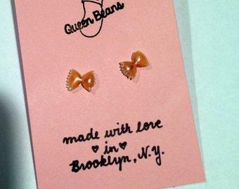 Bowtie Pasta Earrings