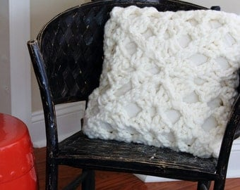 20 Inch Large Crocheted Pillow