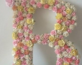 Custom Wooden Floral Letters 28cm
