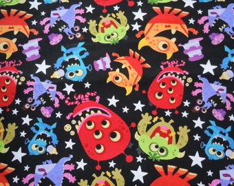 SALE:  Friendly Kids Monsters, 100% Cotton