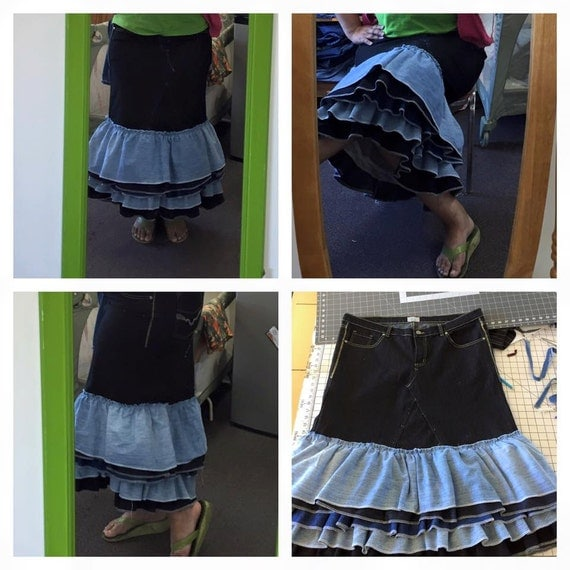 Recycled Denim Skirt 11