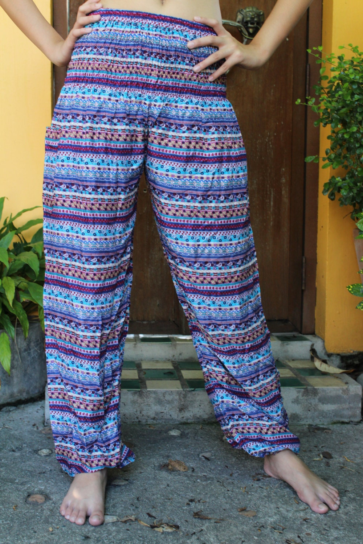 Wonderful SERENELY 2016 SS Women Pants Linen Ruffled Harem Pants Women Pantalon