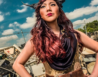 """Post-Apocalyptic Steampunk Dystopia """"The Refuse Empress"""" Limited Signed Photo Print"""