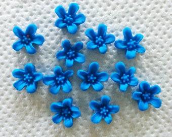 50 × Mini EDIBLE Sugar/Gumpaste Flower Cake/ Cupcake Topper/ Decorations for all occations/ Wedding/Anniversery/Birthdays etc