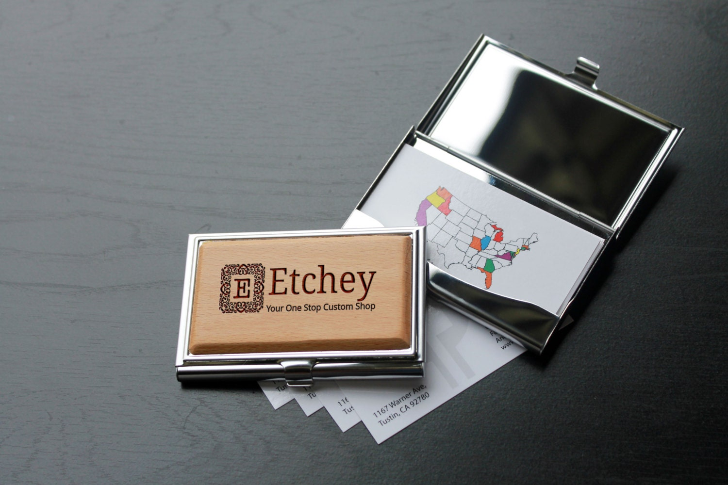 Personalized business card holder custom business card for Promotional business card holder