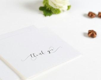 Danksagungskarte Chesterfield, Klappkarte oder Postkarte, auf Wunsch mit Foto, inklusive Umschlag