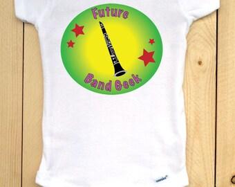 Clarinet Baby Bodysuit/ Future Band Geek Onesie/ Clarinet Onesie/ Music Onesie/ Band Onesie/ Gift for Musician Parents/ Band Parents