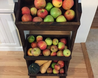 Handmade Produce Stand - 3 Level