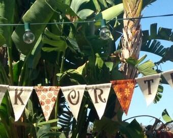 Trick or Treat Fabric Flag Banner/Halloween Decor/Handmade