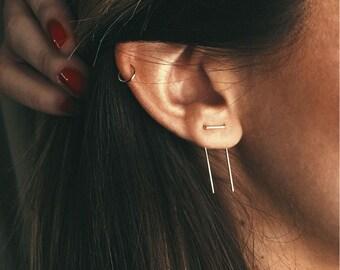 Staple Double Threader Earrings