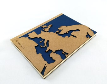 EUROPE MAP, TRAVEL Journal, Travel Notebook, Personalized Gift, Personalized Journal, Custom Journal, Custom Notebook, Europe Gifts, A5
