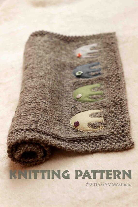 Knitted Elephant Pattern : Baby blanket KNITTING PATTERN Knitting elephant by GAMMAkids
