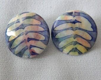 Vintage Custom Made Earrings Porcelain