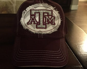 Texas A&M Bling Patch Hat