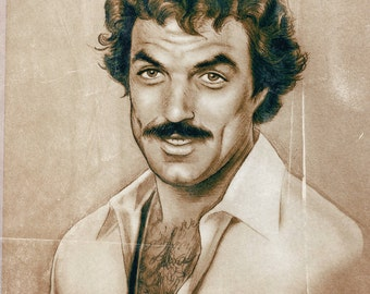 1 DOLLAR SHIPPING: Tom Selleck, 11x14 Print