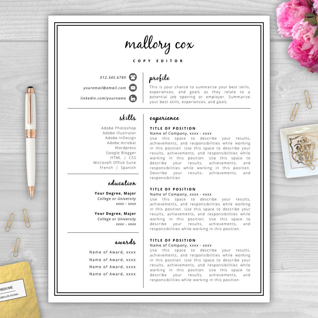 Cake Decorating Job Interview Questions : Resume Icons Resume Design Resume Template Word Resume
