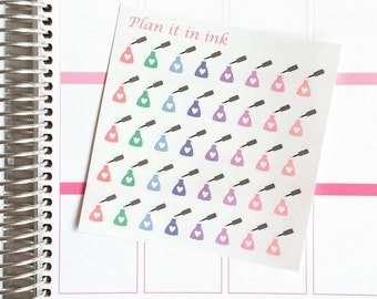Mini Nail Polish Planner Stickers - 40 Stickers