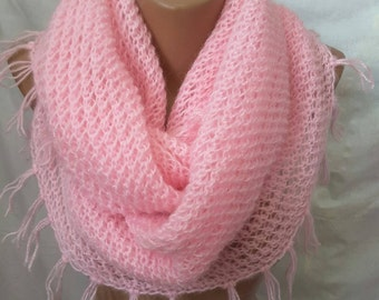New unique handmade knit mohair angora shawl wrap scarf made in Ukraine ready to ship