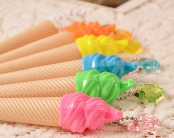Cute Ice Cream Gel Ink Pens / Kawaii Ice Cream Pens / Fine Point Ball Pen / Cute Pens / Cute Stationery / Kawaii Pens / Cute School Supplies