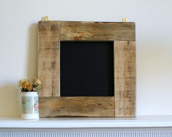 framed chalkboard-reclaimed wood frame. wood wall art. wooden wall hanging.wedding sign. Rustic shabby chic decor. wedding chalkboard