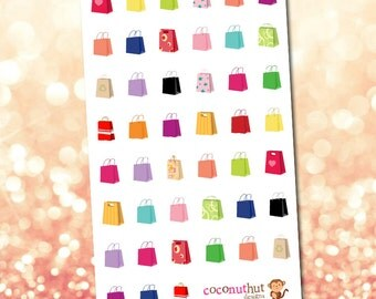 Shopping/Gift Bag Planner Stickers