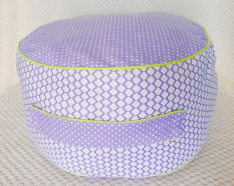 Purple and Lime Toddler/Kids Floor Cushion/Pillow