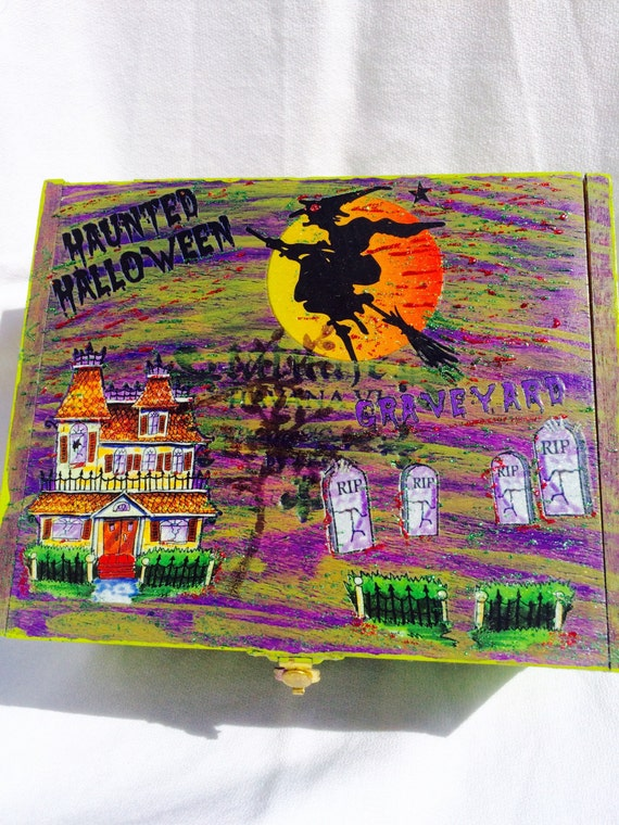 Scary Halloween Box for Candy or Storage