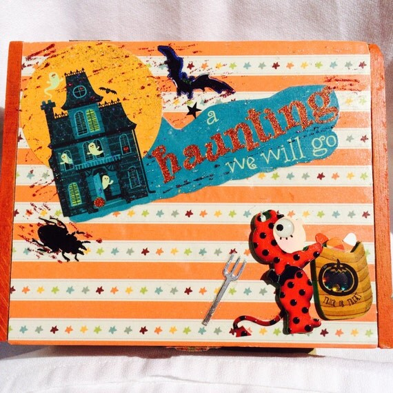 Cute Halloween Box, Mixed Media, Decor