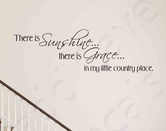 My Little Country Place Vinyl Wall Decal Quote