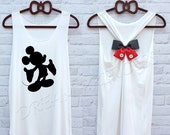 Mickey Mouse Disney Princess tank top : Disney tank top / Disney Bow tank / Tank top / Disney Shirt / Princess tank top / Ariel Disney shirt