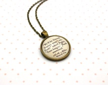 Winnie The Pooh, 'We'll Be Friends Forever', Piglet, A. A. Milne Quote Necklace or Keychain