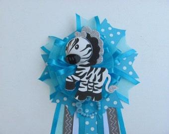 Zebra Baby Shower Corsage / Wild Baby Shower Corsage / Baby Shower Corsage / Jungle Safari Baby Shower Corsage / Wild Baby Shower Corsage
