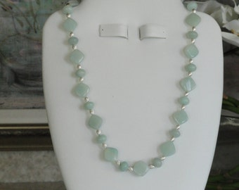 Amazonite beaded necklace  -  213