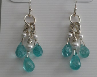 African Apatite Earrings  -  #264