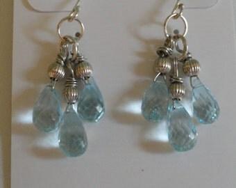 Blue Topaz Earrings  -  #297