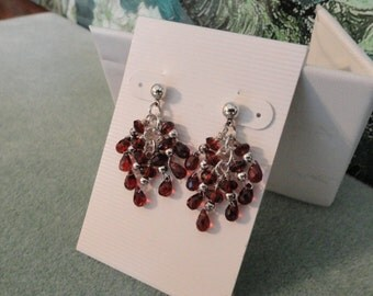 Garnet Earrings  -  #318