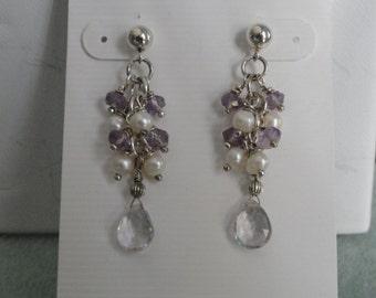 Pink Amethyst Earrings  -  #383