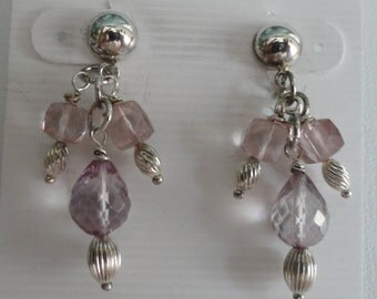 Pink Mystic Quartz Earrings  -   #396