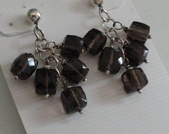 Smokey Quartz Earrings  -   #403