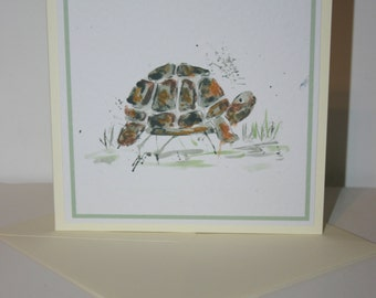 Tortoise greetings card, blank card, greetings card, birthday card, note card, thank you card, tortoise thank you card, tortoise card
