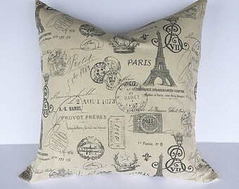 throw pillow accent pillow cover decorative throw pillow cover paris pillow cover french farmhouse decor pillow cover couch pillow cover