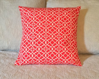 Pillow Cover - Throw Pillow Cover - 16x16 Throw Pillow Cover - Shocking Pink Throw Pillow Cover - Decorative Throw Pillow Cover