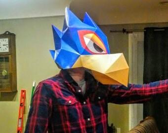 Starfox Falco Papercraft Mask