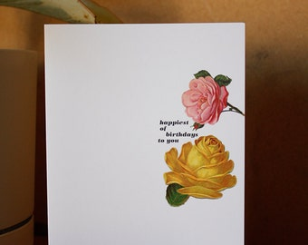 Greeting card : Happiest of birthdays to you.