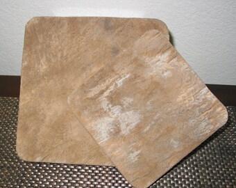 Cement Trivet Large Rustic Brown