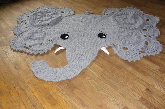 Crochet Elephant Rug : Crochet elephant Rug Nursery decor Home by NiftyCreations4you